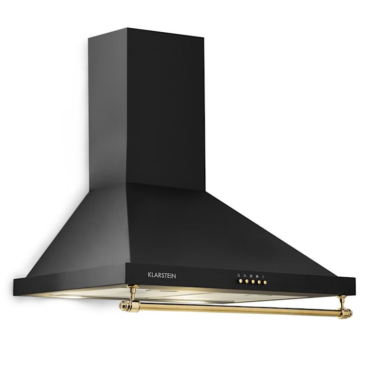 Montblanc afzuigkap 610m³/h 165W 2x1,5W LED railing zwart Zwart