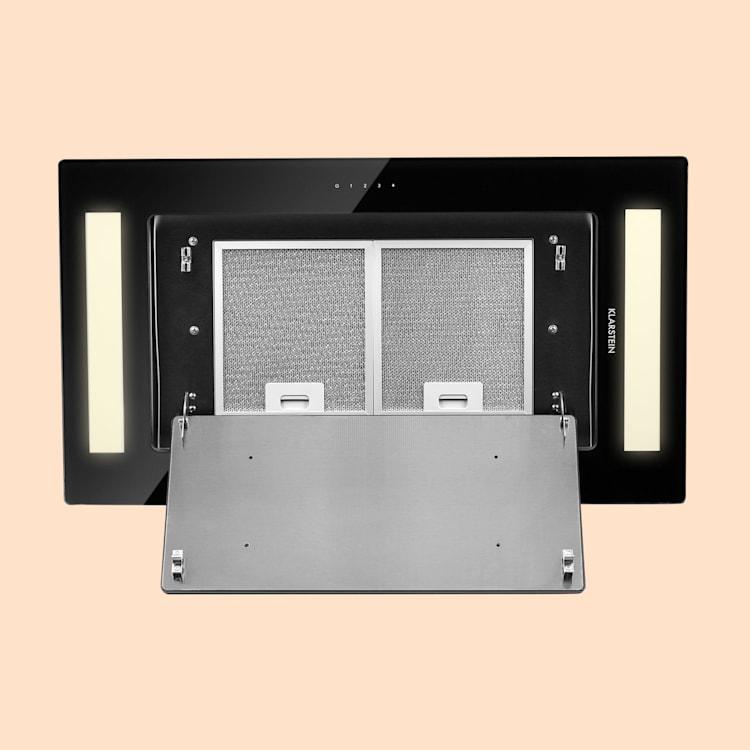 Remy hotte de plafond 90 cm 619 m³/h 230W 3 vitesses télécommande Noir | Sans filtre de rechange