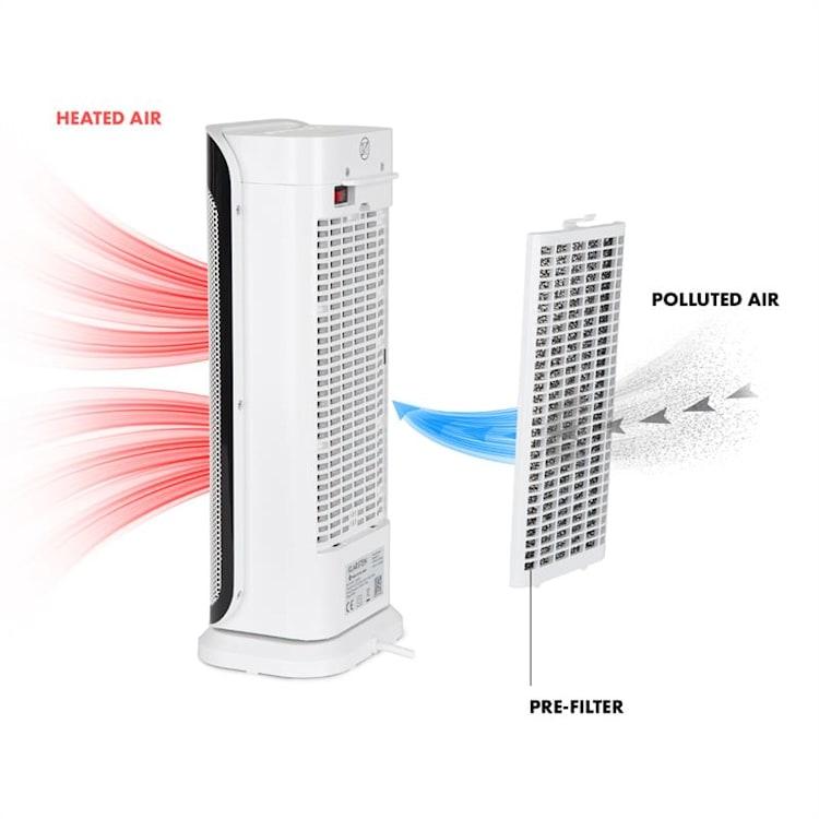 Chaval torenverwarming 2000W thermostaat timer afstandsbediening wit