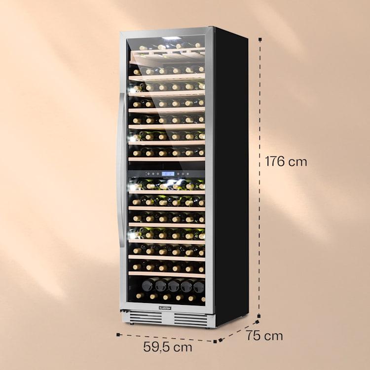 Vinovilla Grande 165 Built-in Duo Réfrigérateur à vin 425l 165Fl. Porte en verre 3 couleurs 425 L | 2 zones de conservation