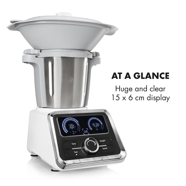 GrandPrix Robot da Cucina 500W/1000W Ciotola in Acciaio Inox 2,5l bianco