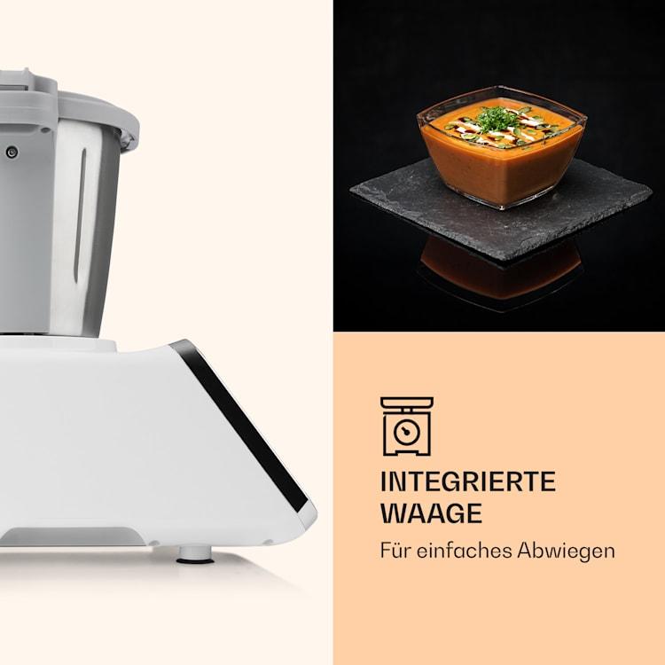 GrandPrix Küchenmaschine 500W / 1000W 2,5l Edelstahl-Rührschüssel