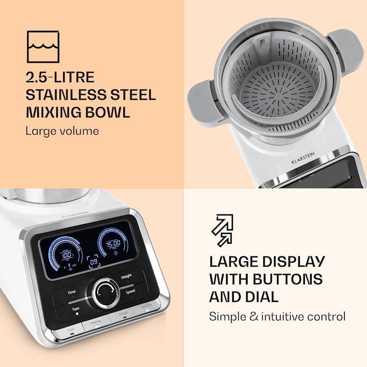 GrandPrix food processor 500W / 1000W 2.5l stainless steel mixing bowl