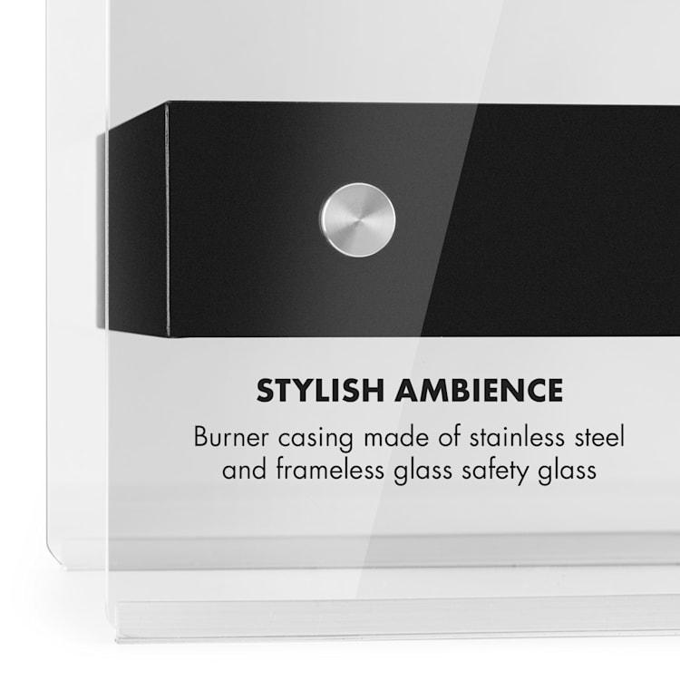 Phantasma Glassy, ethanolový krb, bez kouře, hořák z ušlechtilé oceli, ušlechtilá ocel, 4h
