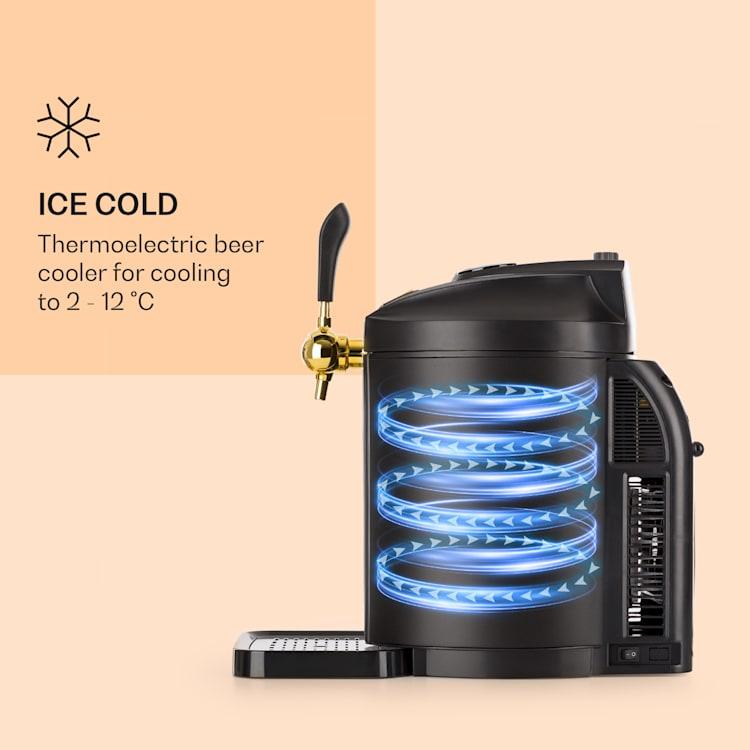 Dispensador de cerveja Skal refrigerador de cerveja Barril de 5l CO2 Aço Inoxidável Preto Preto