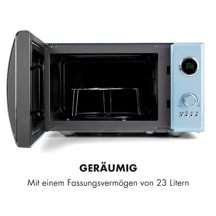 Fine Dinesty 2-in-1-Mikrowelle: 23l 800W / Grill: 1000W blau Blau