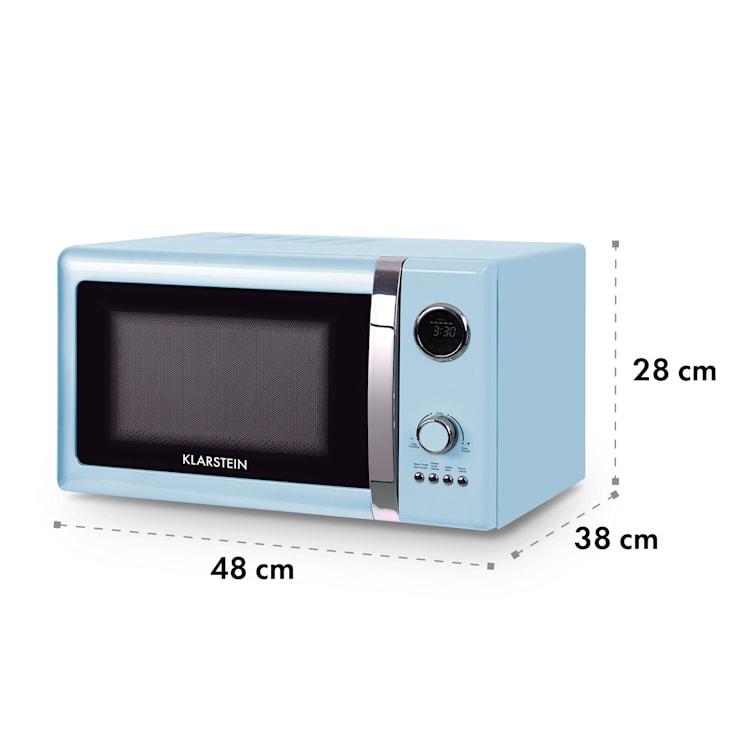 Fine Dinesty, 2 az 1-ben mikrohullámú sütő: 23 l, 800 W/grillsütő: 1000 W, kék Kék