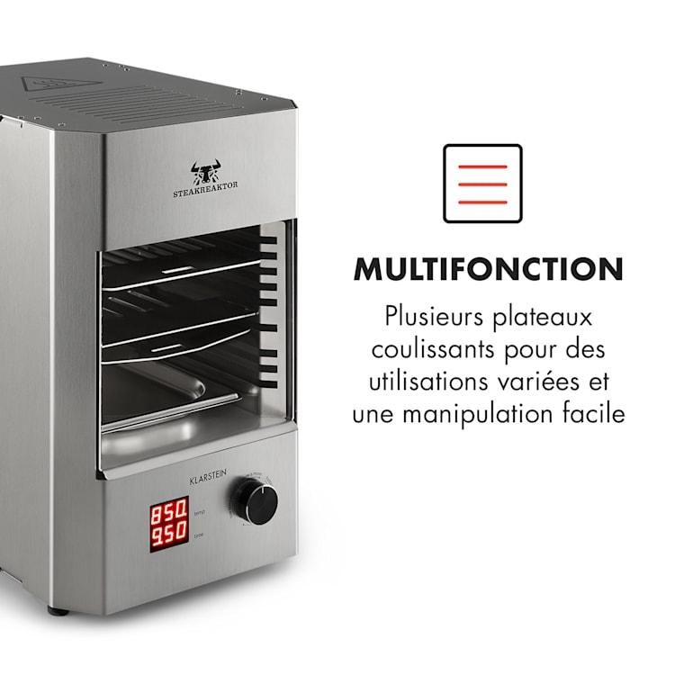 Steakreaktor 2.0 - edelstaal editie - indoor grillapparaat 1600W 850°C Zilver