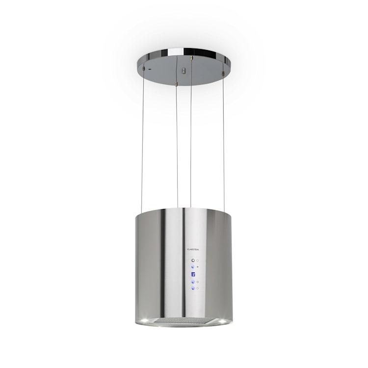 Hotte aspirante d'îlot Barett Ø35cm recirculation 558 m³/h LED filtre à charbon actif  Argent