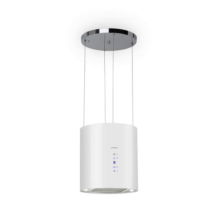 Hotte aspirante îlot Barett Ø35cm recirculation 558 m³/h LED filtre à charbon actif  Blanc