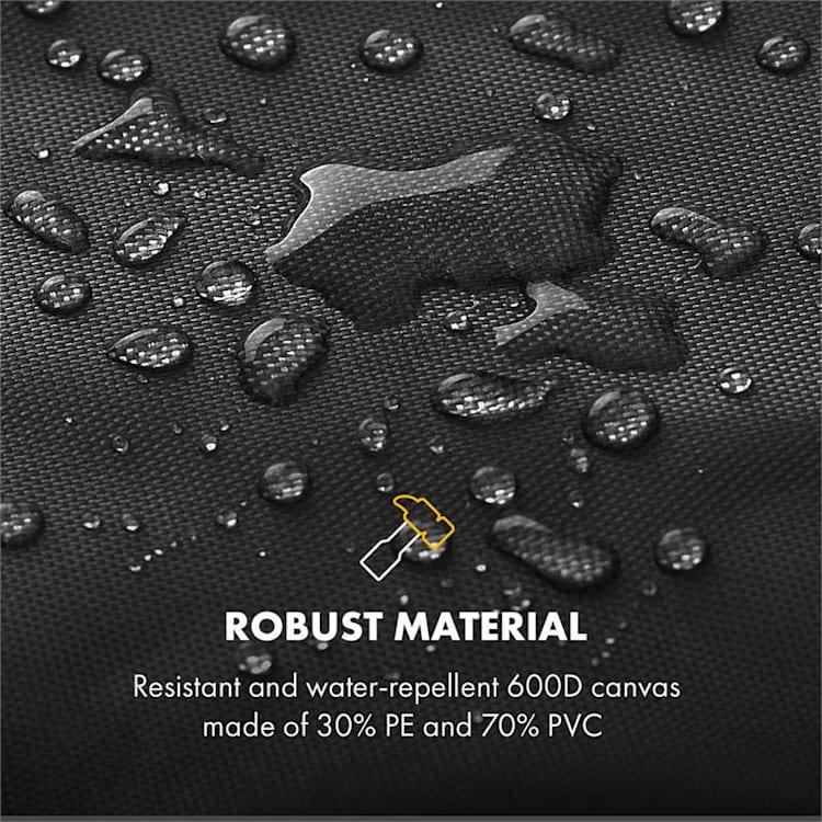 Tomahawk 4.0 Cover, ochranný kryt na plynový gril, 600D plátno, 30/70 % PE/PVC, černý 130 x 105 x 52 cm