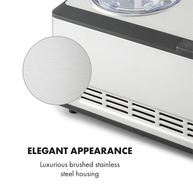 Dolce Bacio Glassbehållare Kompressor 2l LCD-Display Touch Rostfritt stål