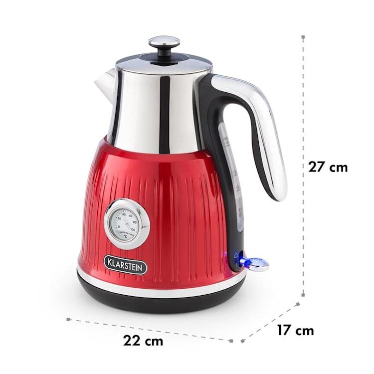 Cancan, kuhalo za vodu, 1.6l, 1800-2150W, retro dizajn, 360 ° baza, crvena Crvena