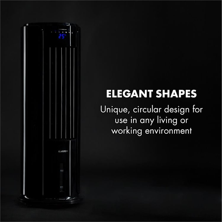 Skyscraper Horizon, ochladzovač vzduchu, ventilátor, 60 W, 486 m³/h, 3.5 l vodná nádrž, čierny Čierna