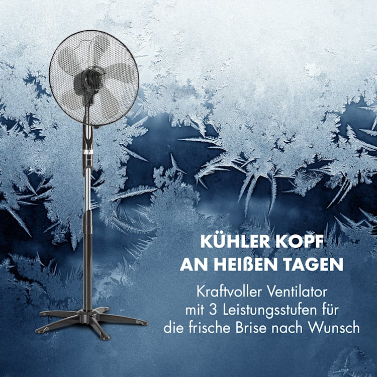 "Summer Vibe Standventilator Ventilator Standlüfter | 16"" Rotor | 55 W | 2040 m³/h | Oszillation / neigbar / höhenverstellbar Grip-Shift"