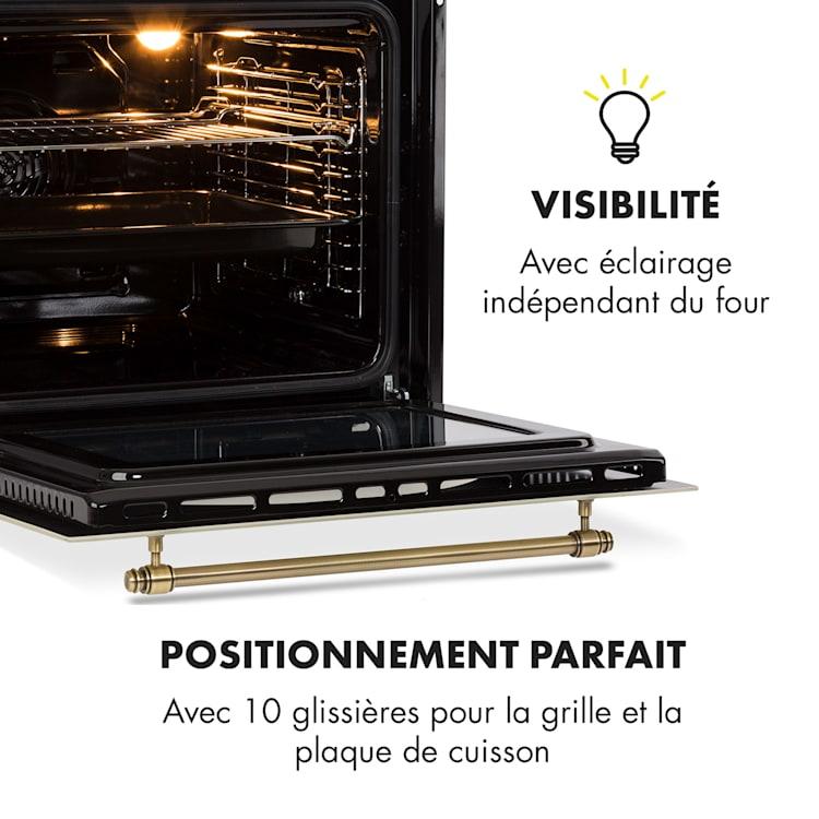 Victoria Four encastrable 70L 50-250°C - Classe A- Look rétro ivoire Ivoire