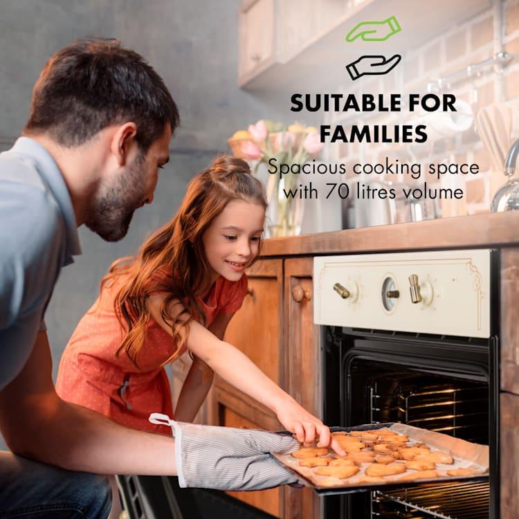 Victoria, beépíthető sütő, retró dizájn, 9 funkció, 50 – 250 °C, elefántcsont Elefántcsont