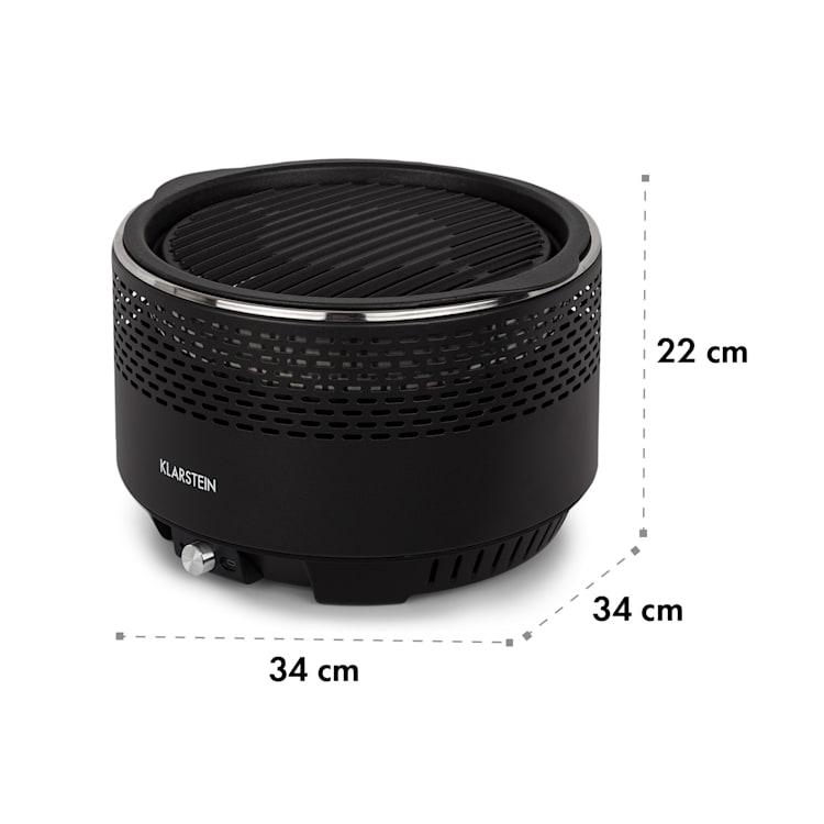 Micro-Q 3131 Barbacoa de carbón Redonda 31 cm de diámetro Rejilla Negro