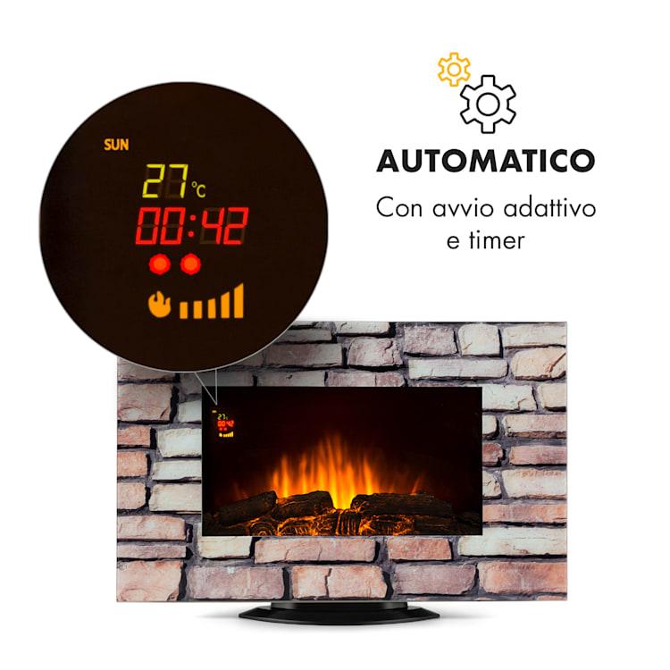 Colmar Camino Elettrico Vetro 2000W 7 Colori LED Telecomando
