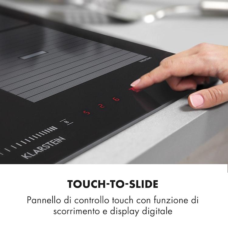 Virtuosa Flex 60 Piano Cottura a Induzione 4 Zone 7200 W Booster  Ad Incasso Nero 4