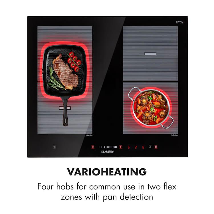 Virtuosa Flex 60 Induction Hob 4 zones 7200W Ceran Built-in Black 4