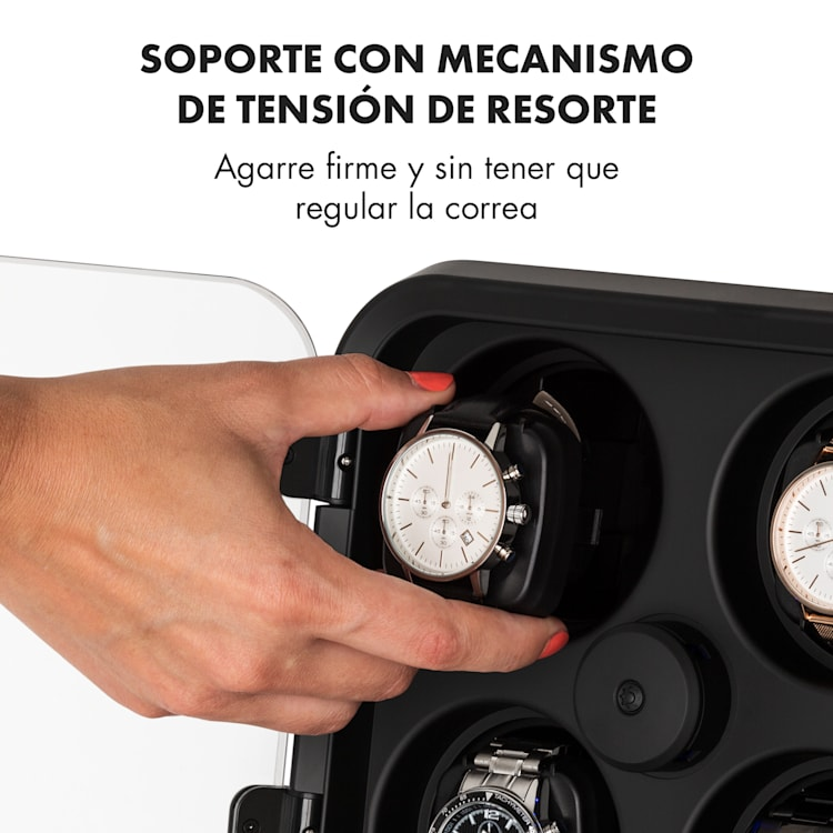 Clover Estuche para 4 relojes 3 rotaciones 4 velocidades LED