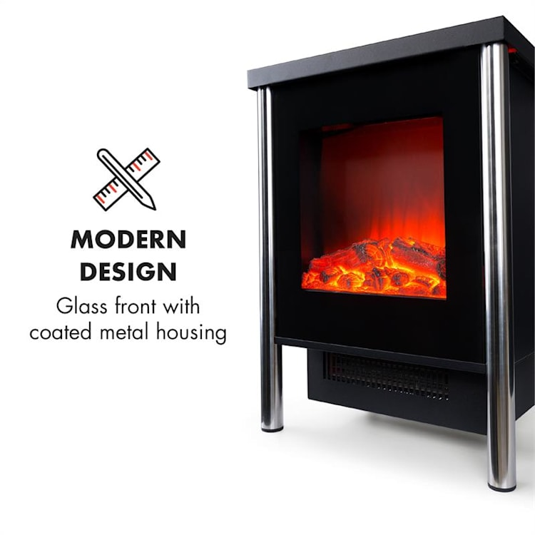 Copenhagen Electric Fireplace 950 / 1900W Thermostat Black
