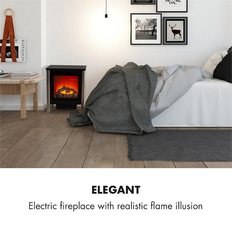 Copenhagen Big, elektrický krb, 950/1900 W, termostat, černý