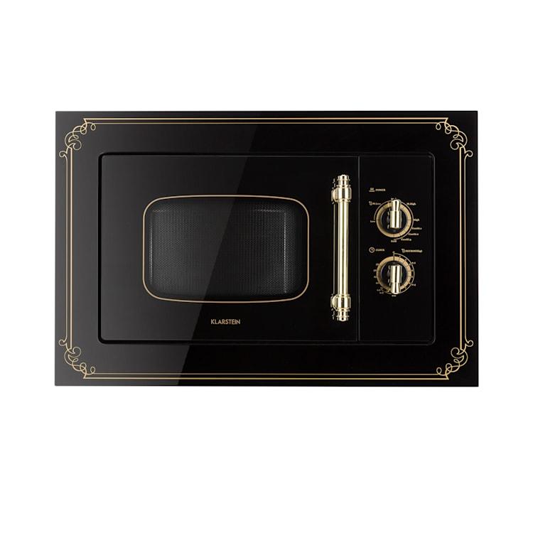 Victoria 20, beépíthető mikrohullámú sütő, 20 l, 800 W, grill: 1000 W, fekete Fekete
