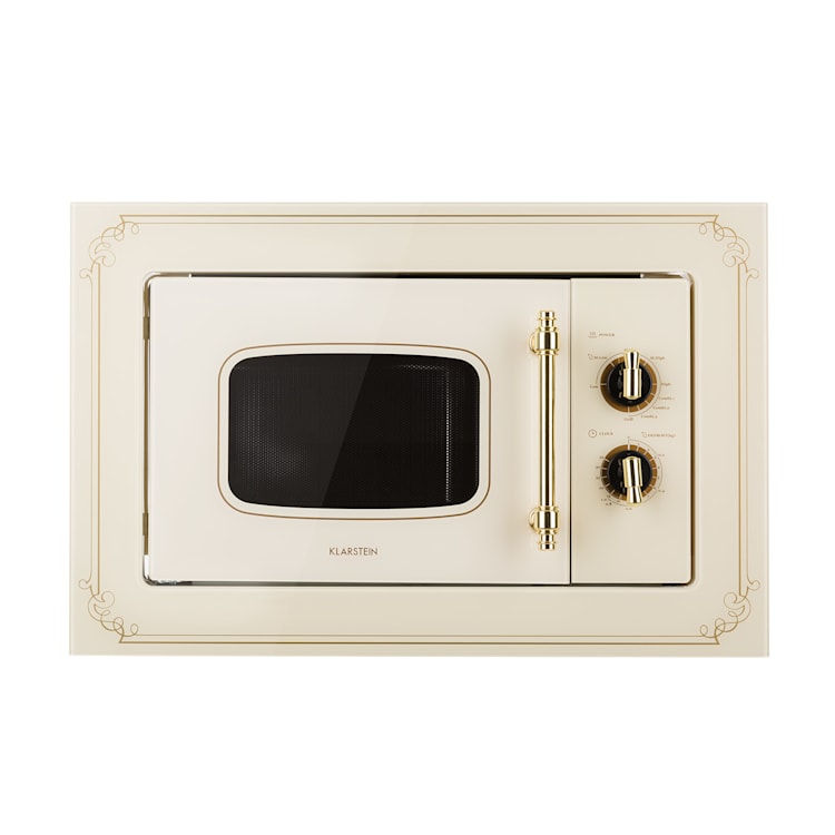 Victoria 20, beépíthető mikrohullámú sütő, 20 l, 800 W, grill: 1000 W, elefántcsont Elefántcsont