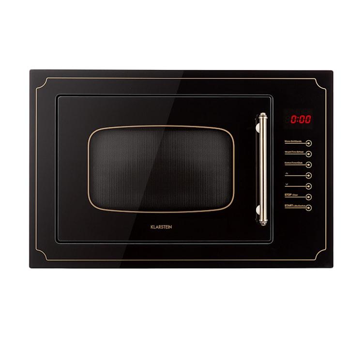 Victoria 25, beépíthető mikrohullámú sütő, 25 l, 900 W, grill: 1000 W, fekete Fekete