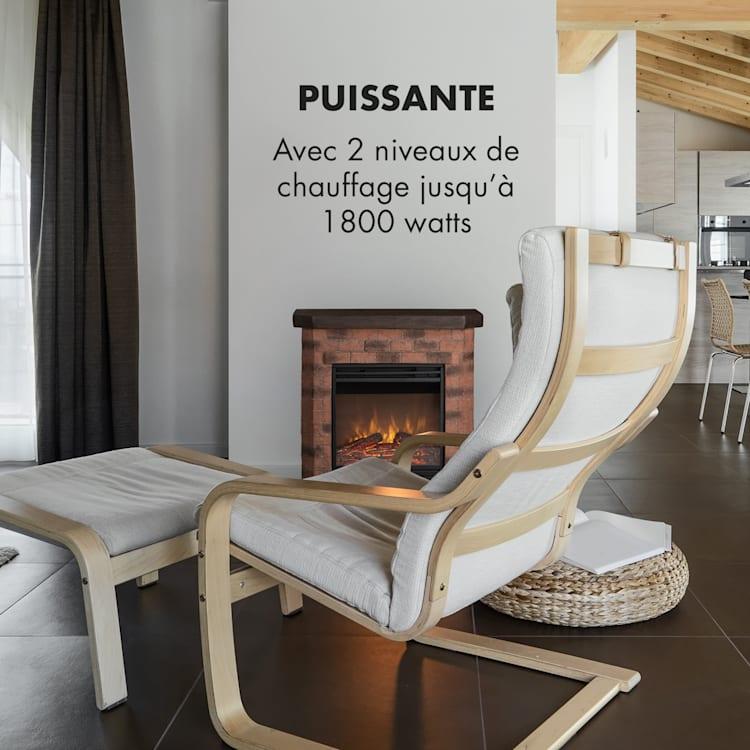 Villach Cheminée électrique chauffage 1800W design pierre