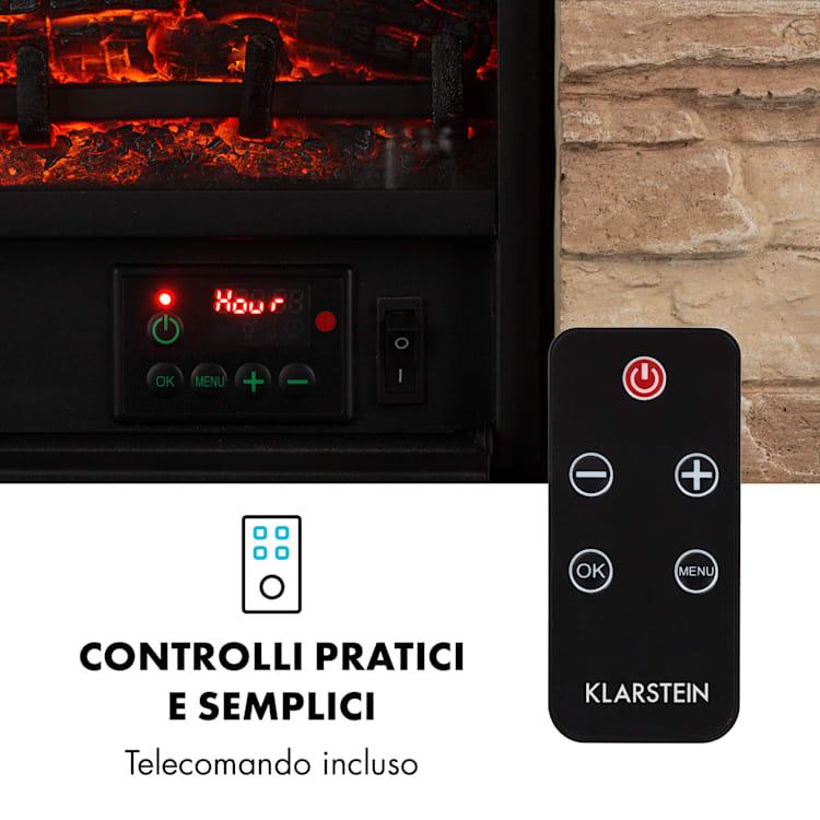 Kaprun Camino Elettrico 1800W Pietra Artificiale Telecomando
