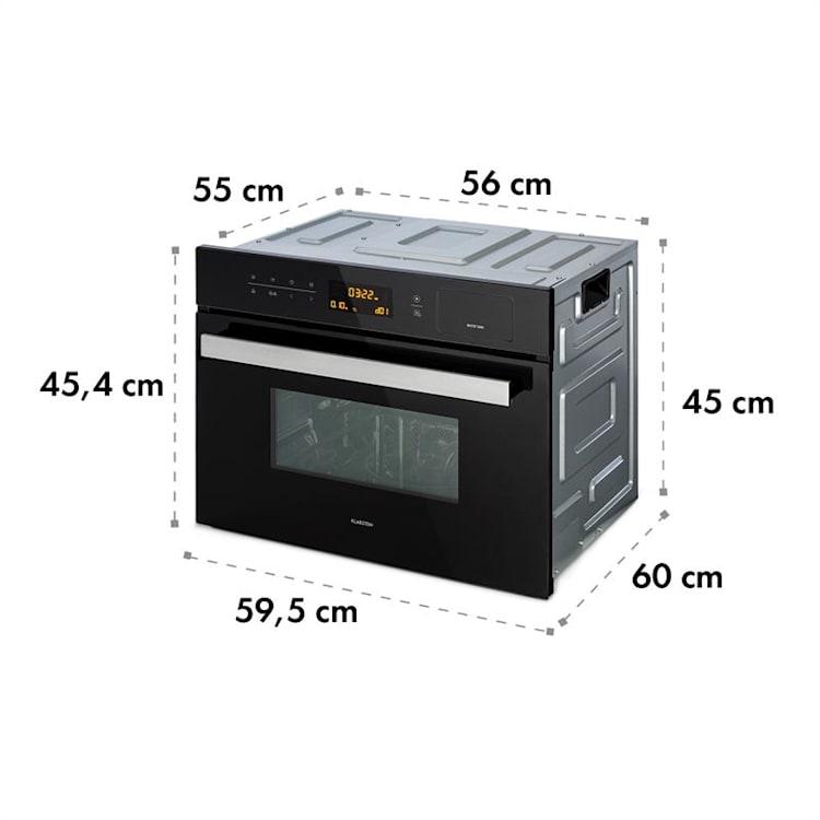 Luminance Steam, beépíthető mikrohullámú sütő, 900 W, 34 L, fekete