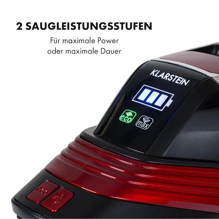 Cleanbutler 3G Turbo Akku-Staubsauger 0,7l HEPA13 rot/schwarz Rot
