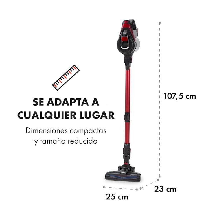 Cleanbutler 3G Turbo Aspiradora sin cables 0,7 litros HEPA13 Rojo/negro Rojo