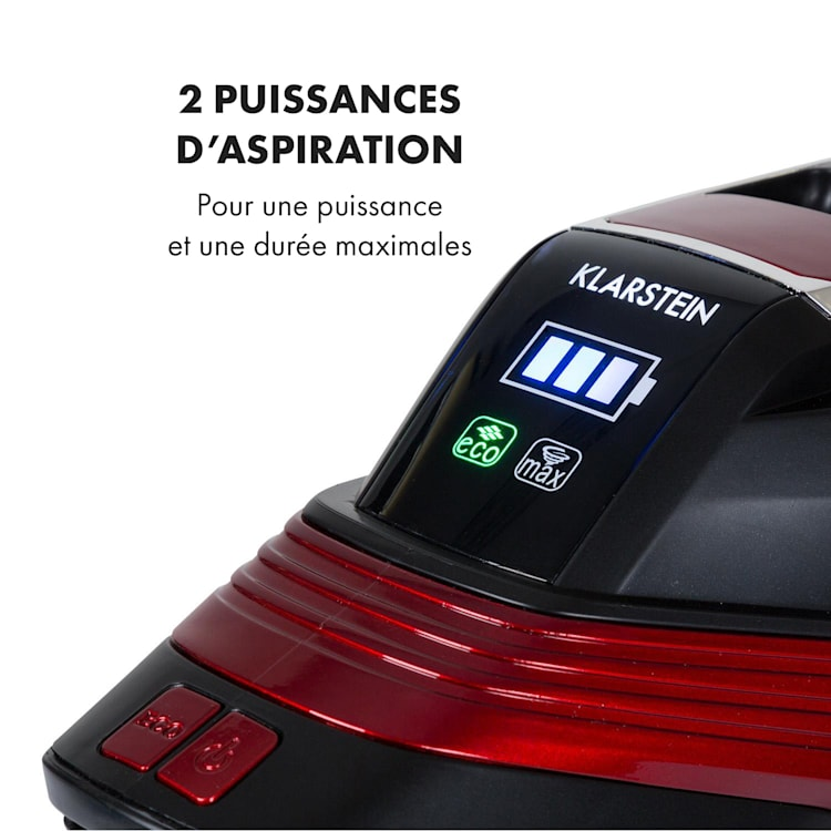 Cleanbutler 3G Turbo Aspirateur sans fil 0,7 l 120W HEPA13 - rouge & n Rouge