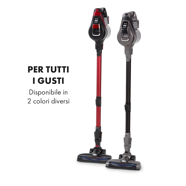 Cleanbutler 3G Turbo Aspirapolvere Senza Fili 0,7l HEPA13 Rosso/Nero Rosso