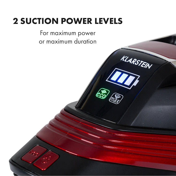 Cleanbutler 3G Turbo, usisavač na baterije, 0.7 l, HEPA13, crveno/crni Crvena