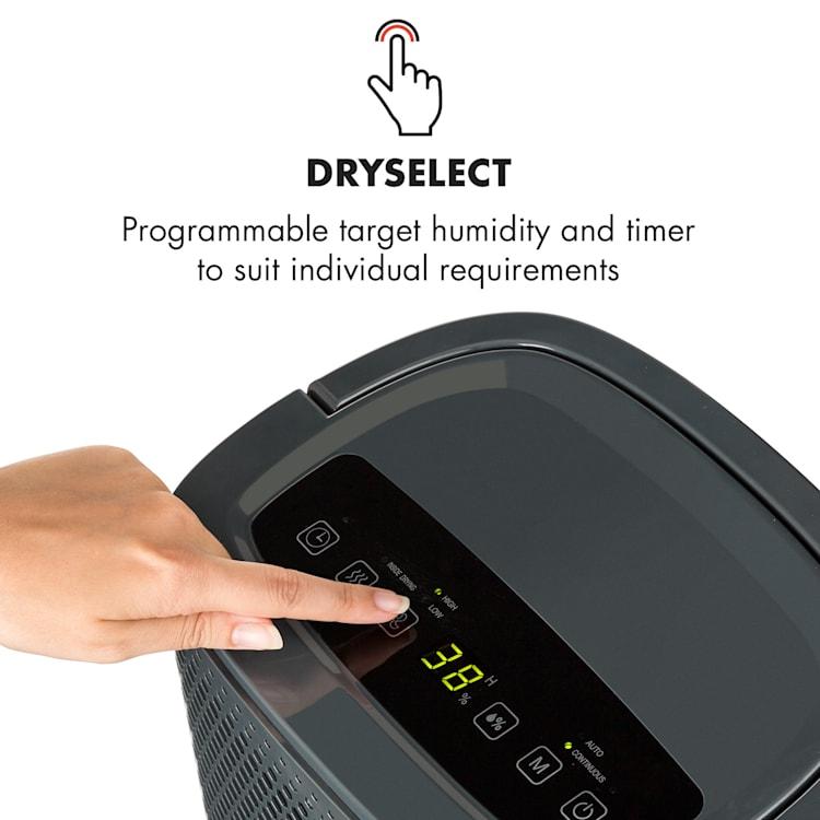 DryFy 10, odvlhčovač vzduchu, 240 W, 10 l/24h, 100 m³/h, 15 - 20 m², DrySelect, 40dB, šedý Antracit | 10l/24h