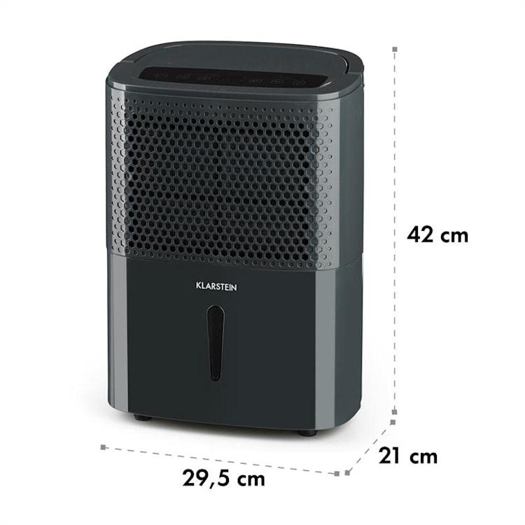 DryFy 10, обезвлажнител на въздуха, компресия , 240 W, 10 l/24 h, 100 m³/h, 15 - 20 m², DrySelect, 40 dB, сив Антрацит   10l/24h