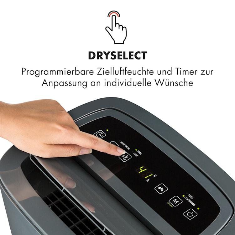 DryFy 20 Luftentfeuchter 420W 20l/d 230m³/h 40-50m² DrySelect 45dB anthrazit Anthrazit | 20l/24h