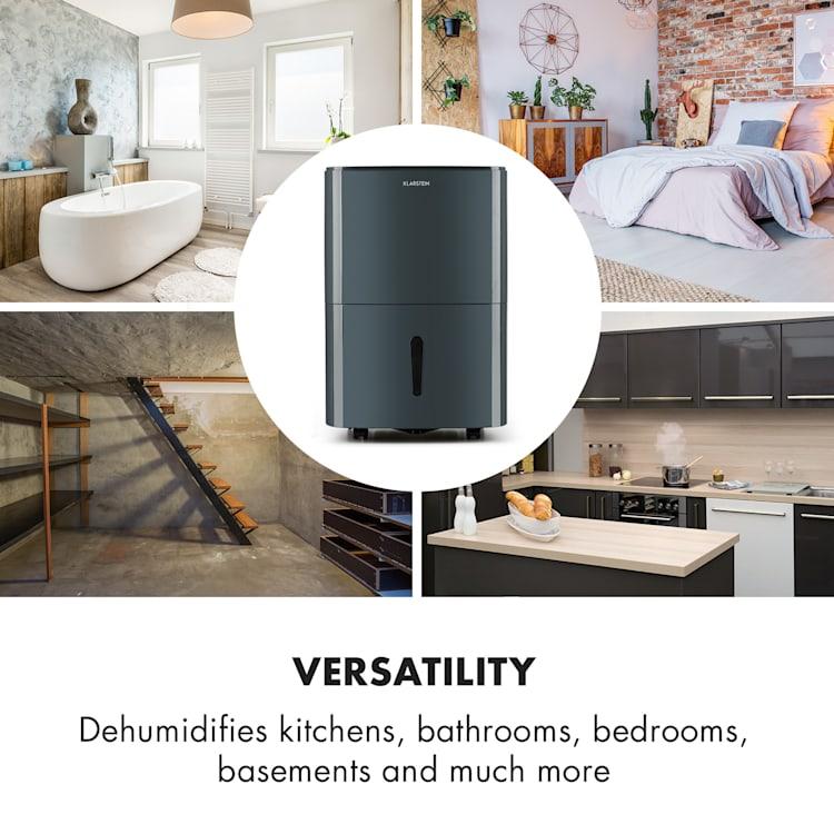 DryFy 20, dezumidificator, 420 W, 20 l/24h, 230 m³/h, 40 - 50 m², Dryselect, 45 dB, antracit Antracit | 20l/24h