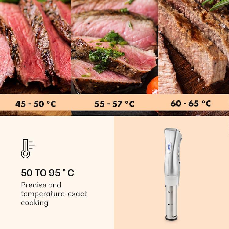 Quickstick, vařič sous vide, termostat, cirkulační čerpadlo, 20 l, ušlechtilá ocel Stříbrná