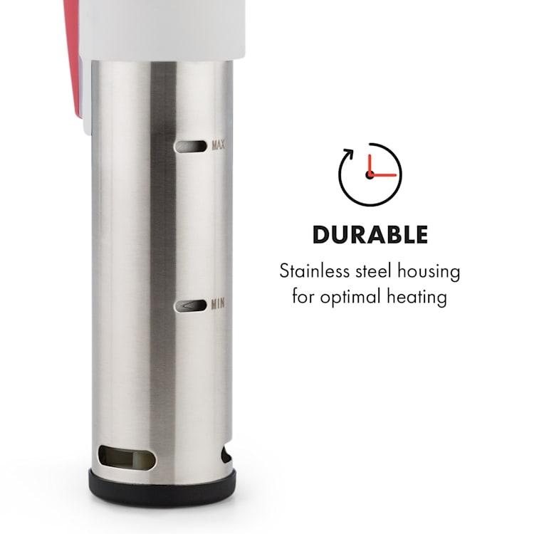 Quickstick Sous Vide vacuümkoker | thermostaat: 50-95 °C in stappen van 0,5 °C | circulatiepomp voor 20 L | roestvrij staal Rood