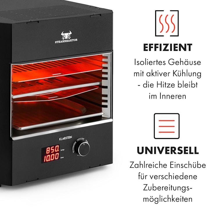 Steakreaktor Pro Indoor Grillgerät Hochtemperaturgrill 3200W 850°C Made in Germany Schwarz