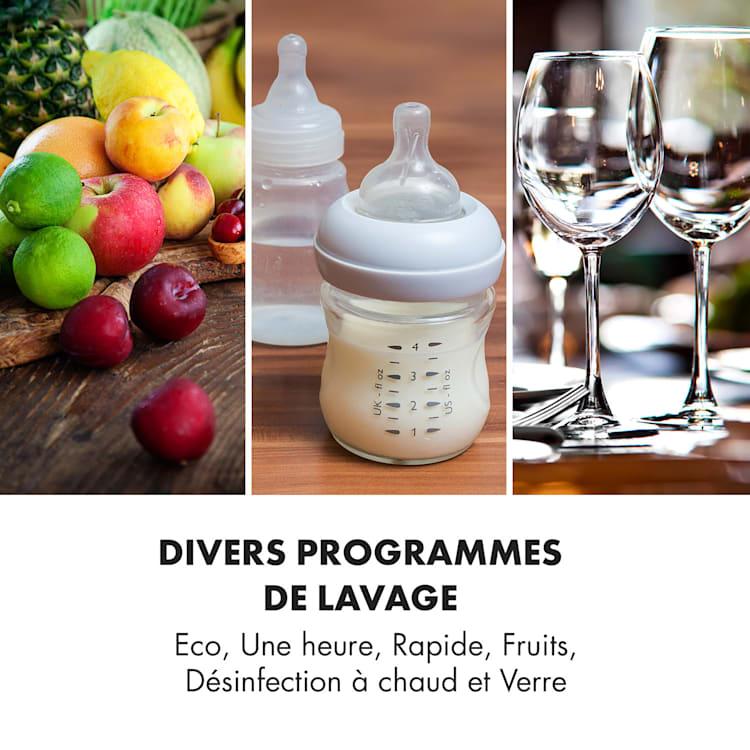 Amazonia Mini lave-vaisselle 6 programmes écran LED bleu Bleu