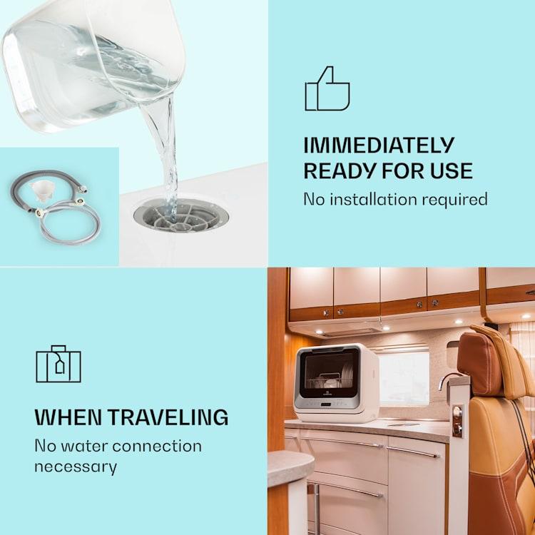 Amazonia Mini, myčka nádobí, 6 programů, LED displej, stříbrná Stříbrná