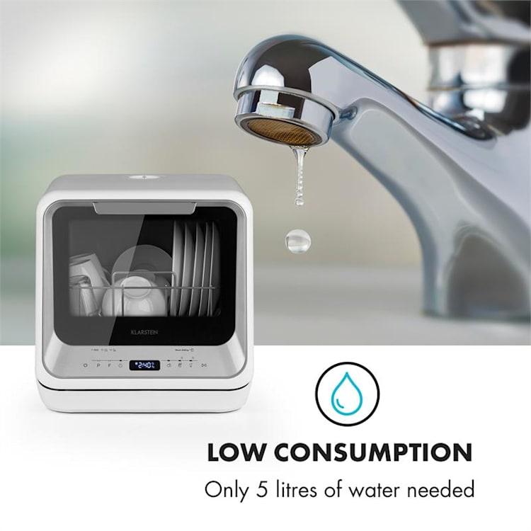 Amazonia Mini, mosogatógép, 6 program, LED kijelző, ezüst Ezüst
