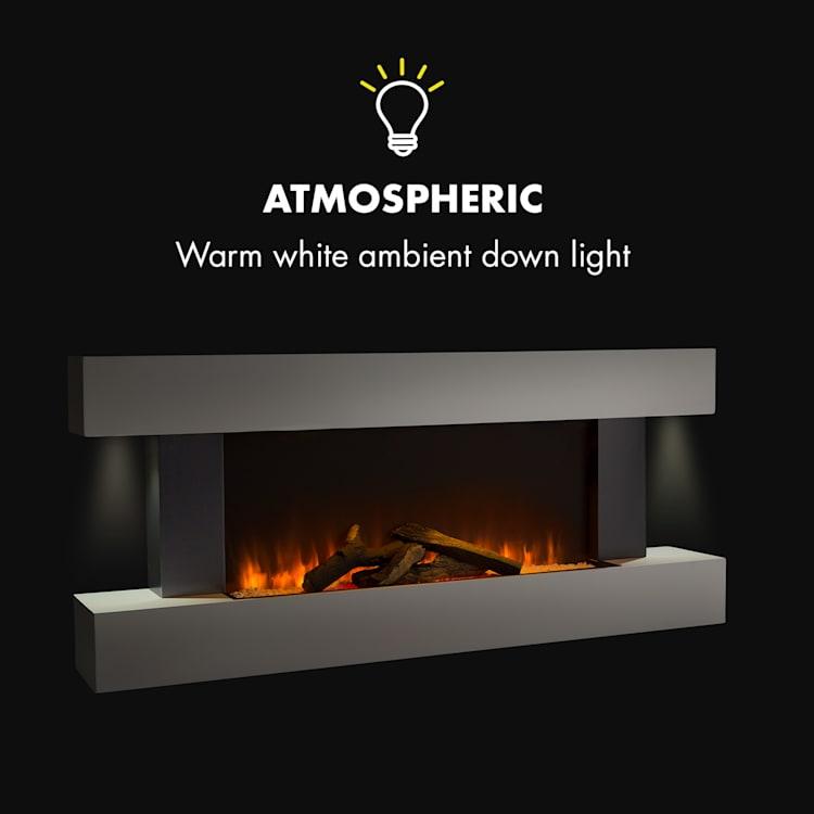 Studio Light & Fire 1 Fireplace 1000 / 2000W MDF Remote Control White Fire 1